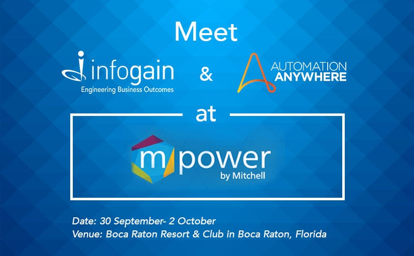 Event | Meet Infogain & Automation Anywhere at Mitchell's mPower Conference