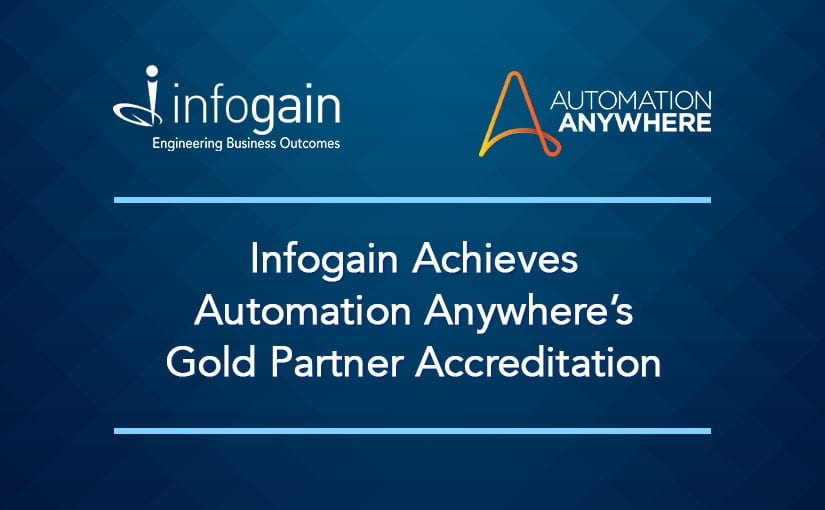 Infogain Achieves Automation Anywhere's Gold Partner Accreditation