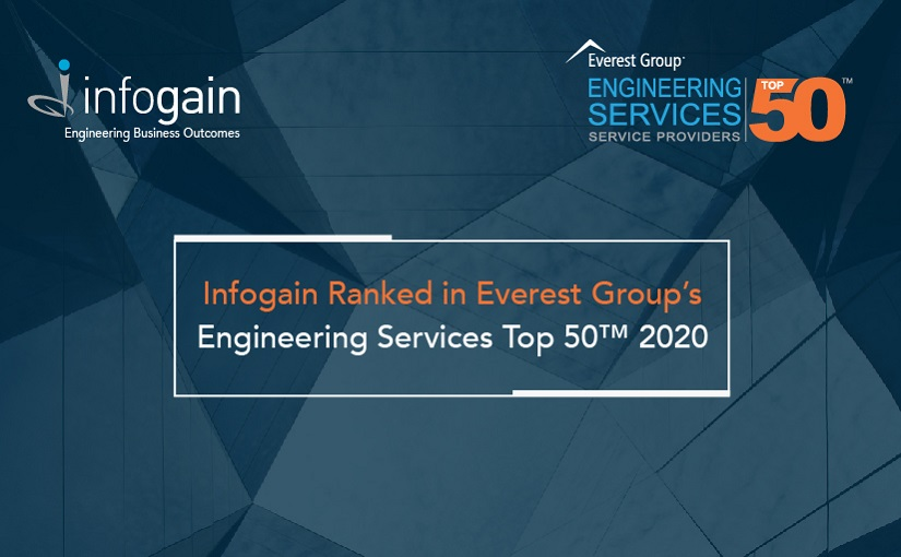 Infogain ranked in Everest Group's Top 50 List for Engineering Services Providers, 2020