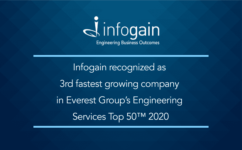 Infogain recognized as 3rd fastest growing company in Everest Group's Engineering Services Top 50™ 2020